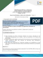 Guía de actividades y rúbrica de evaluación – Unidad 2 -Tarea 2 - Aplicación de  recursos en línea herramientas