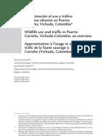 Uso y trafico fauna silvestre Puerto Carreño - Cruz-Antia & Gómez, 2010