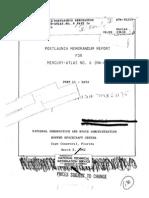 Post Launch Memorandum Report for Mercury-Atlas No. 6 Part 2 Data