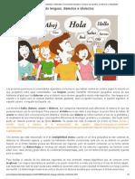 Hablando lenguas, dialectos e idiolectos _ Comunidad educativa_ recursos para padres, profesores y estudiantes
