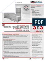 AC Voltage Stabilisers Three Phase 6 to 500kVA - Ashley Edison SES-H-3P-S15 Sales Brochure