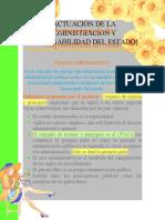 ACTUACIÓN DE LA ADMINISTRACION Y RESPONSABILIDAD DEL ESTADO