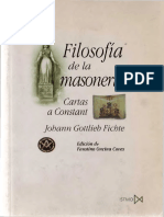 Fichte, Johann - Filosofía de La Masonería
