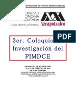 Programa Del 3er Coloquio Del Pimdce VF