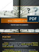 Basic Concepts of Poetry