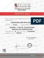 CERTIFICADO DE HIGIENE