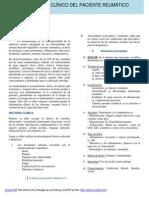 Examen clínico del paciente reumático