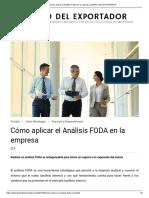 Cómo aplicar el Análisis FODA en la empresa _ DIARIO DEL EXPORTADOR