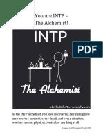 INTP Alchemist