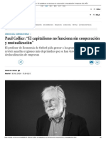 """Paul Collier_ """"El capitalismo no funciona sin cooperación y mutualización"""" _ Negocios _ EL PAÍS"""