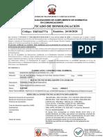 Certif de Homologacion Marca ULEFONE Modelo ARMOR 9