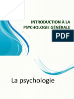 introduction à la psychologie génerale