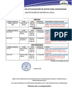 cronograma de ratificacion 2021