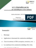 Ch I - Généralités sur la construction métallique + Métaux