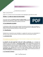 DJP 8 _ La mise en oeuvre du droit d'action et les classifications des actions en justice