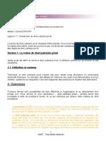 DJP 1 _ Introduction au droit judiciaire privé