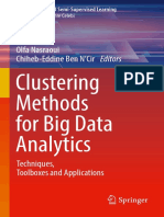 Clustering Methods for Big Data Analytics Techniques, Toolboxes and Applications
