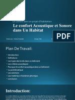 Le confort Acoustique et Sonore Benmadi Nesrine Grp6A