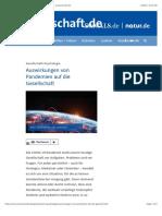 Auswirkungen von Pandemien auf die Gesellschaft - wissenschaft.de