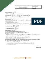 Devoir de Contrôle N°1 - Math - 2ème Sciences (2011-2012) Mr Tlich Ahmed