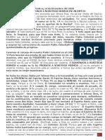 PREDICA L. (14 Diciembre 2020) EXAMINÉMONOS A NOSOTROS MISMOS EN UN ESPEJO