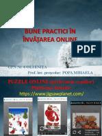 Bune Practici În Învățarea Online Popa Mihaela