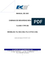 Manual de usuario cabina de seguridad biológica marca C4 FLC B2 (120)  FLC CITOX (120)