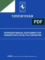 Workshop Manual Testarossa Supplement Catalytic Converter