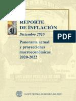 Reporte de Inflacion Diciembre 2020