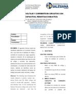 DESFASES DE VOLTAJE Y CORRIENTE EN CIRCUITOS CON CARGA CAPACITIVA