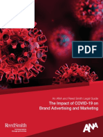ANA - Reed Smith Legal Guide The Impact of COVID19 on Brand Advertising and Marketing