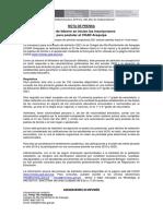 Nota de Prensa PUA 2021