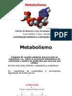 Metabolismo- Ana e Catabolismo
