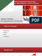 optimal chest conpression  CPR in prone position