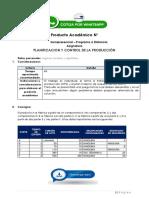 Planificación y Control de La Producción - Producto Académico N°3