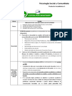 Psicología Social y Comunitaria - Producto Académico 3