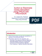 Dr. - Jungho Cho. Introduction to Electrolyte Process Simulation Using PRO_II With PROVISION