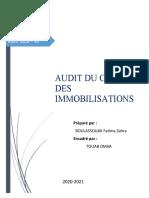 Audit Du Cycle Immobilisation