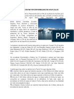 LOS PAÍSES CON MAYOR DISPONIBILIDAD DE AGUA DULCE