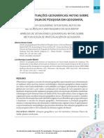 Aula 10 - CATAIA M E RIBEIRO, L. Análise de situações geográficas, Anpege, 2015.