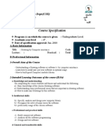 COURSE SPECIFICATION_SE