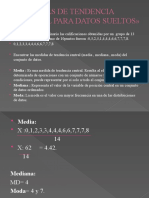 MEDIDAS DE TENDENCIA CENTRAL PARA DATOS SUELTOS