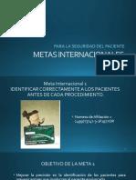 METAS INTERNACIONALES