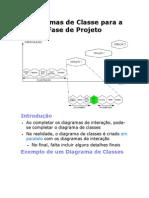 Diagramas de Classe para a Fase de Projeto