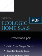 Exposicion Iniciativa II - Ecologic Home
