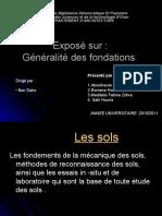 Exposé Sur Généralité Des Fondation