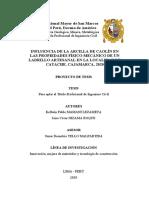 PROYECTO TESIS - INFLUENCIA DE LA ARCILLA DE CAOLIN EN LAS PROPIEDADES FISICO-MECANICOS DE UN LADRILLO ARTESANAL EN LA LOCALIDAD DE CATACHE-CAJAMARCA