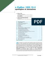 Technique de l'Ingénieur - Technologie ZigBee-802.15.4 - Protocoles, topologies