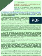 Carta Pùblica al Presidente Chàvez para exhortarlo a instalar el Sistema Nacional de Planificaciòn