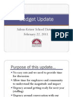 Feb. 22 Salem-Keizer School District Budget Update